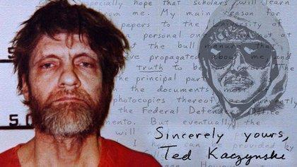 Ted y el retrato robot utilizado por el FBI para tratar de capturarlo