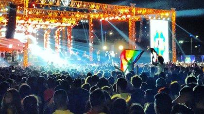 El recital de Mashrou' Leila en El Cairo, el 22 de septiembre de 2017. (Benno Schwinghammer, Picture-Alliance/Dpa/Ap/LaPresse)