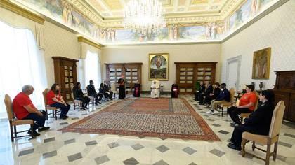 El encuentro del Papa con las delegaciones deportivas (Vatican Media)
