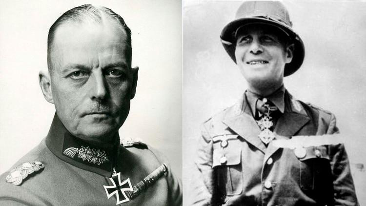 Los líderes alemanes: Comandante Supremo del Oeste, mariscal Gerd von Rundstedt, y el comandante del Grupo de Ejércitos B, general Erwin Rommel (Grosby)