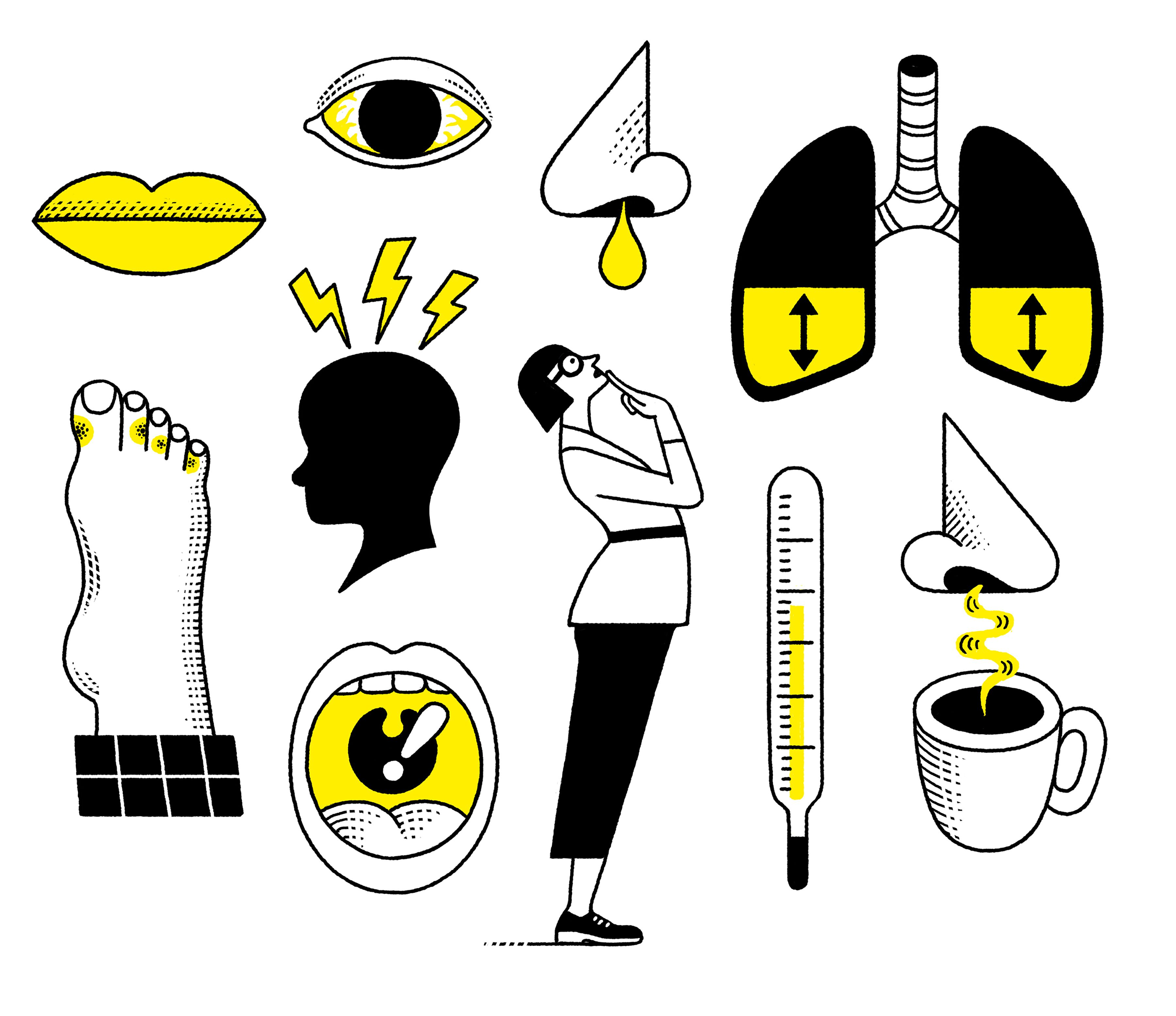 Sintomas coronavirus y gripe (NYT)