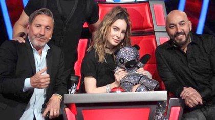 """Lupillo Rivera, Belinda y Ricardo Montaner trabajaron juntos en """"La Voz"""" (Foto: instagram)"""