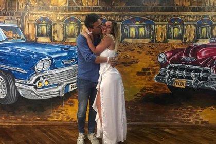Belén y Fabián, felices en Cuba