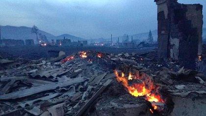 Más de 1.500 casas fueron alcanzadas por los incendios