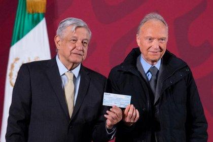 El presidente Andrés Manuel López Obrador y el fiscal Alejandro Gertz Manero