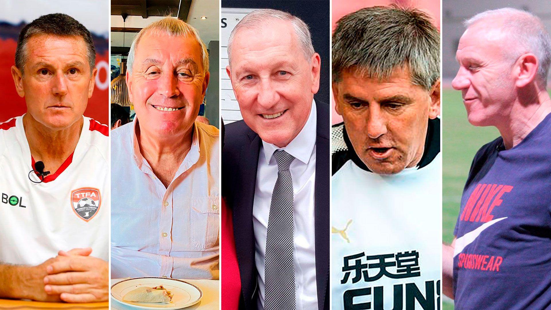 Peter Beardsley, Peter Reid, Terry Butcher, Terry Fenwick y el arquero Peter Shilton