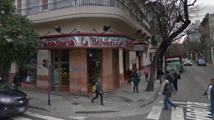El frente de la panadería