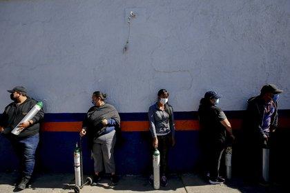 Durante enero la demanda de oxígeno en el Valle de México aumentó de forma exponencial (Foto: Ulises Ruiz/AFP)