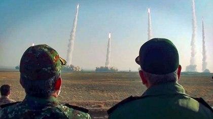 La prueba de misiles iraní (SEPAH NEWS / AFP)