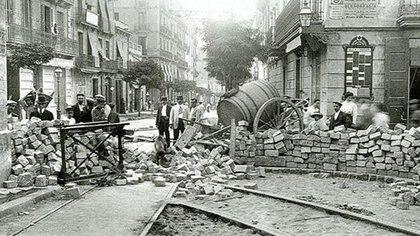 Las barricadas en las calles de Buenos Aires