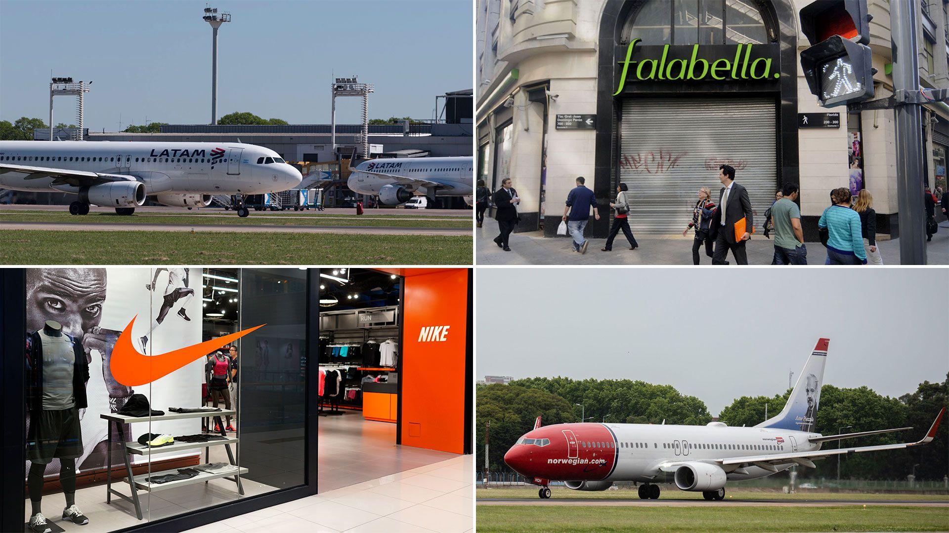 Latam, Falabella, Nike y Norwegian
