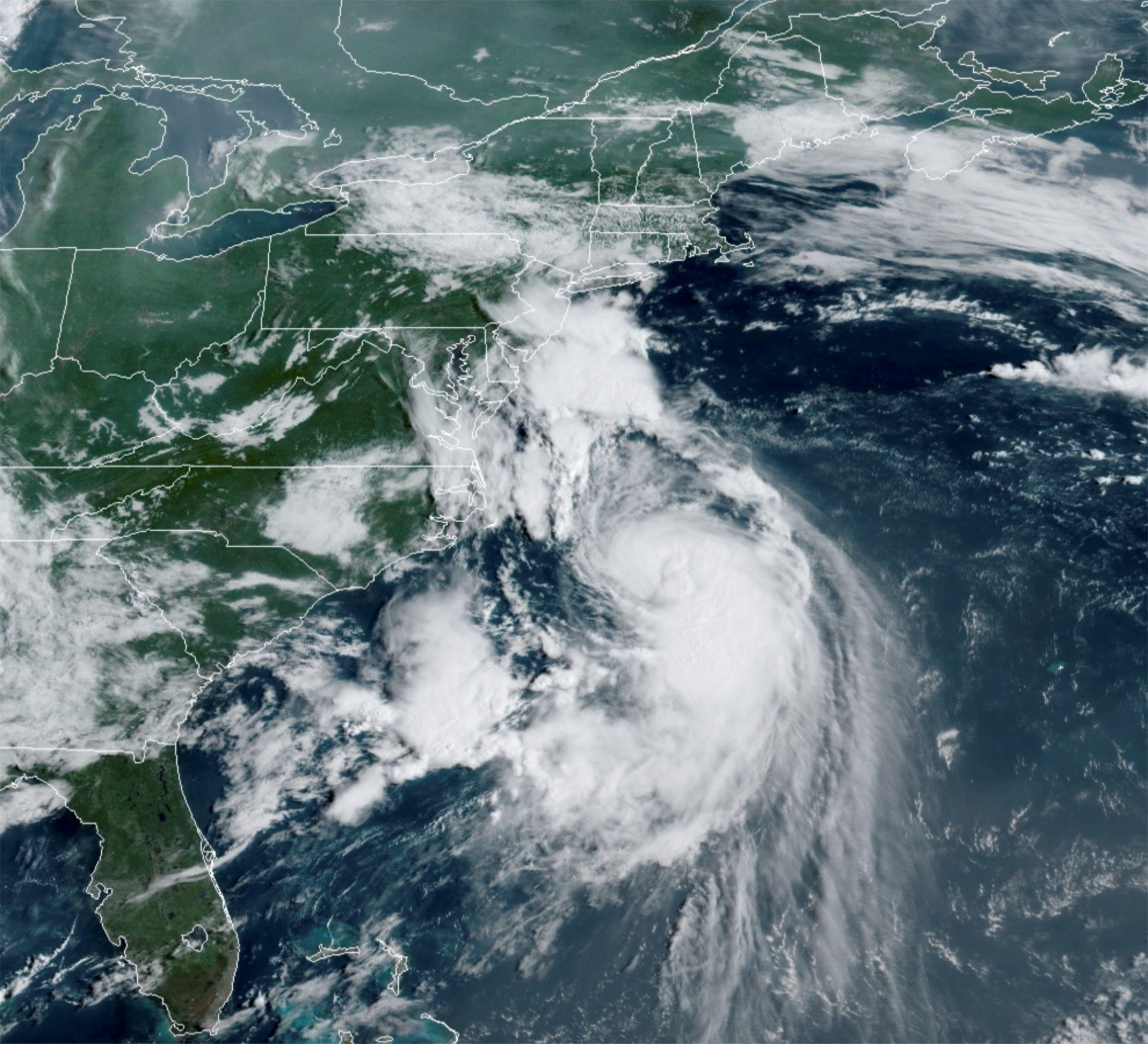 La tormenta Henri se convirtió en huracán (NOAA/Handout vía REUTERS)