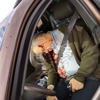El cuerpo del empresario apareció con un arma en la mano (Foto: Twitter)