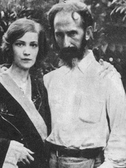 Junto a Ana María Cires, su primera esposa