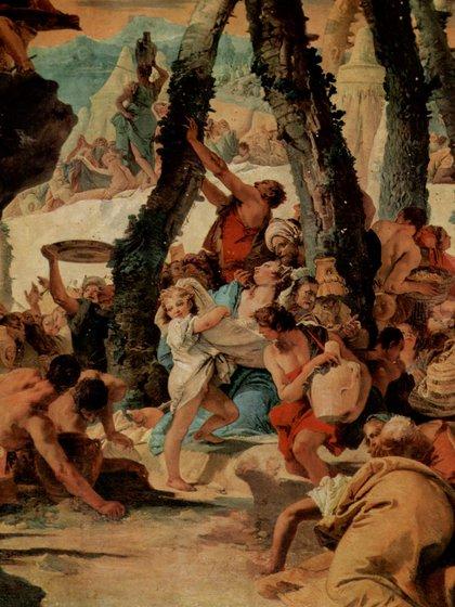 La recolección del maná en el desierto, por Giovanni Battista Tiépolo