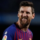 Soccer Football - Copa del Rey - Round of 16 - Second Leg - FC Barcelona v Levante - Camp Nou, Barcelona, Spain - January 17, 2019 Barcelona's Lionel Messi reacts during the match REUTERS/Albert Gea