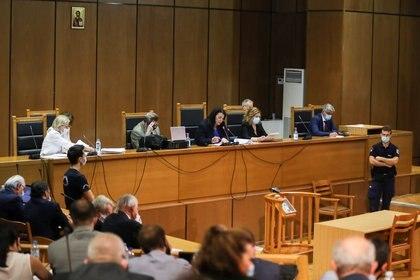 La nueza Maria Lepenioti durante el anuncio del veredicto (REUTERS/Alkis Konstantinidis)
