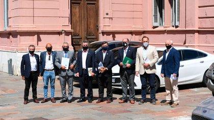Los dirigentes del campo fueron recibidos en la Casa Rosada por el Presidente (Maximiliano Luna)