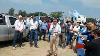Luis Miguel Etchevehere, durante la movilización del pasado miércoles