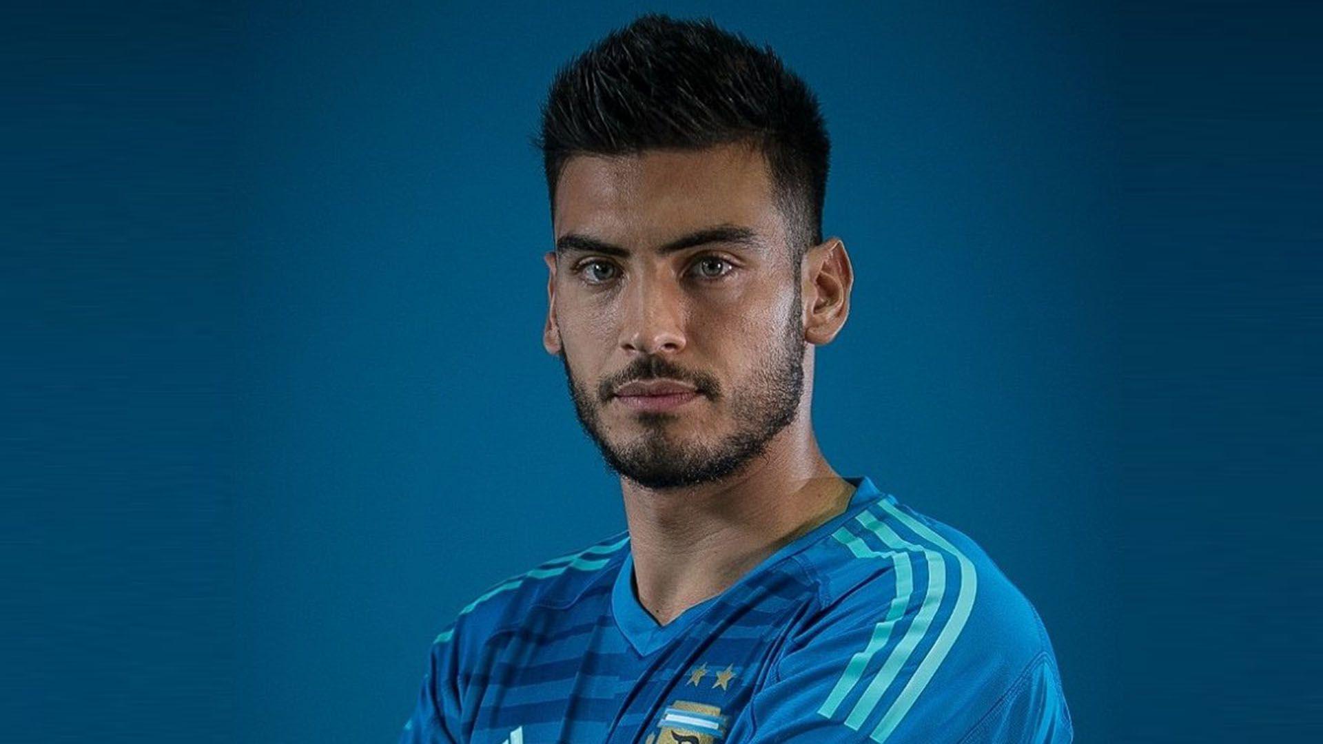 Gazzaniga, suplente en Tottenham, sumó minutos en un amistoso con México en 2018 (@Argentina)
