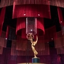 (FILES) In this file photo taken on September 12, 2019 An Emmy statue on the stage at the 71st Emmy Awards Governors Ball press preview at LA Live in Los Angeles, California on September 12, 2019. - Television's glitzy big night out is upon us -- the 71st Emmy Awards kick off Sunday evening in Los Angeles. A little show called