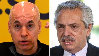 Rodríguez Larreta y Alberto Fernández, en disputa judicial