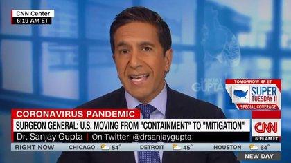 Sanjay Gupta, Jefe de Corresponsalía Médica de CNN. Fue quien decidió comenzar a darle cobertura de pandemia al coronavirus (CNN)