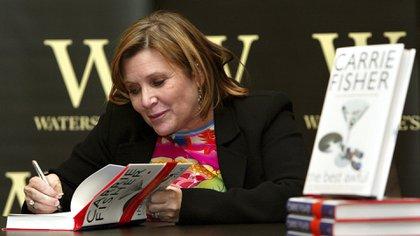 Carrie Fisherpresentandosu libro 'The Best Awful', en 2014