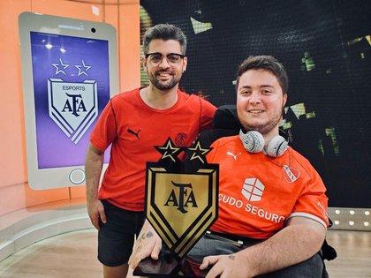 Santino cuando se consagró ganador de AFA Esports, en febrero