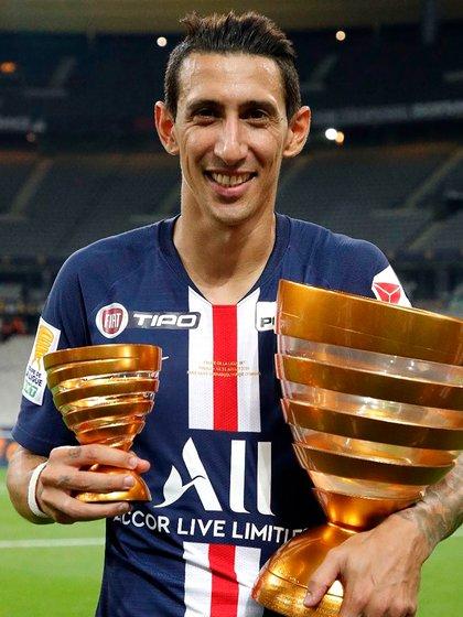 Ángel Di María llegó a su título 26 y está a uno del podio histórico de jugadores argentinos (@angeldimariajm)