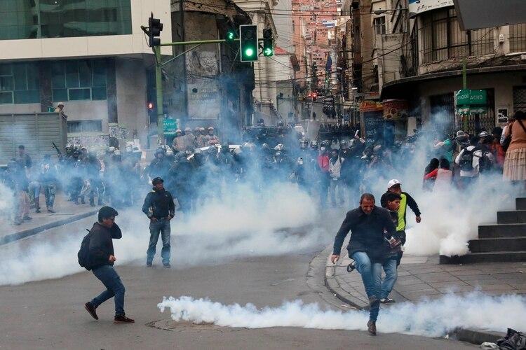 Los incidentes en La Paz este miércoles (REUTERS/Henry Romero)