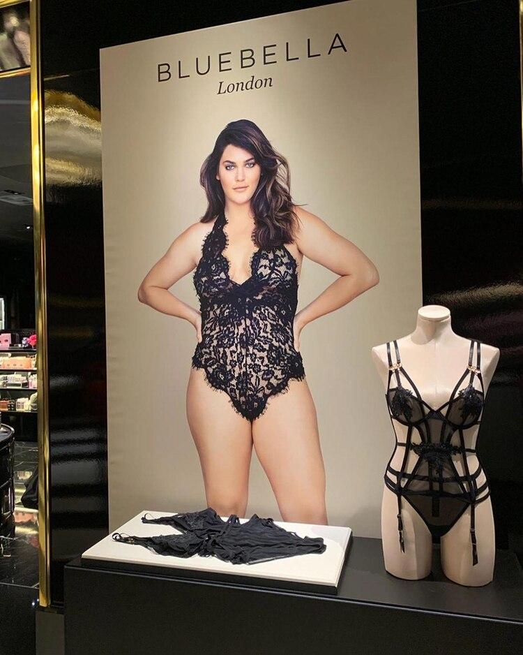 La marca Bluebella es de Londres y llegó a Nueva York con un sector exclusivo y una propuesta atrevida (Instagram @ali_tate_cutler)