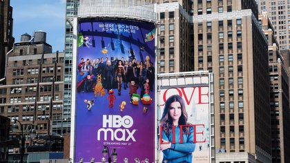 A billboard for the new streaming service HBO Max in New York, New York, USA, 27 May 2020. EFE/EPA/JUSTIN LANE/Archivo