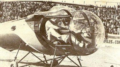 """""""¡No subo nunca más!"""", afirmó sobre aquel mítico arribo en helicóptero a la cancha"""