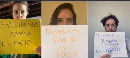 Internautas se manifestaron contra la respuesta de AMLO durante su mañanera, en relación a la candidatura de Felix Salgado Macedonio. Fotos: Twitter