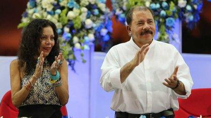 Rosario Murillo y el presidente Daniel Ortega