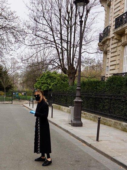 Patricia Della Giovampaola en una entrevista con Infobae desde su casa de Parc Monceau, en París