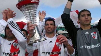 Carrizo fue campeón en 2008 con Diego Simeone como entrenador de River (Fotobaires)