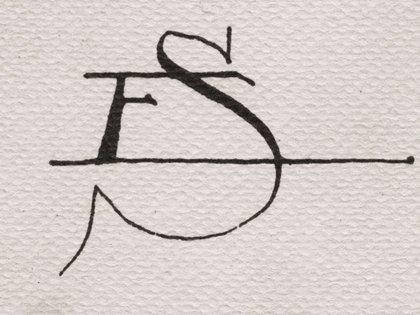 "Monograma de Erik Satie, también en ""Objeto Satie"""