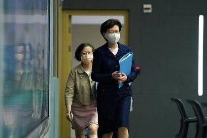 La jefa del ejecutivo de Hong Kong Carrie Lam