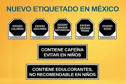 Así será el nuevo etiquetado de los alimentos y bebidas en México. Una leyenda clara y comprensible para el consumidor, en la que se eliminan los nombres técnicos y las dosis difíciles de calcular (Foto: INSP)