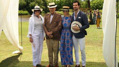 Chantal Erdozain, Archibaldo Lanus, Agustina Socas y Clement Le Coz