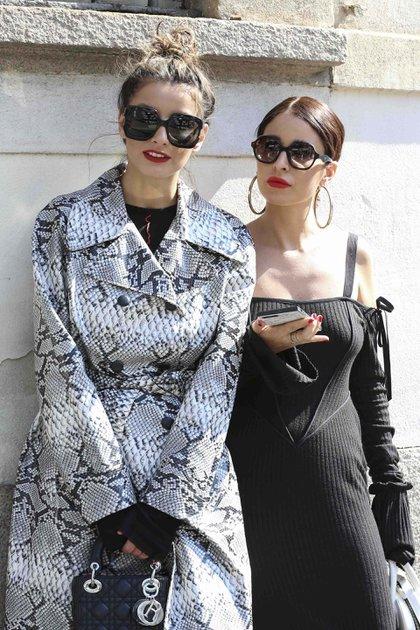 Las influencers italianana desplegaron su estilo por las calles de Milán