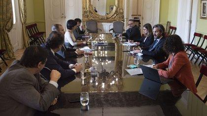 El Gabinete Económico, reunido en la Casa Rosada. (Pablo Duberti/prensa Jefatura de Gabinete de Ministros)