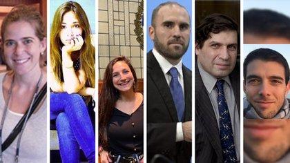 Maia Colodenco, Vera Voskanyan, Melina Mallamace, Martín Guzmán, Sergio Chodos y Pablo Salinas