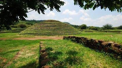 Guachimontones, en Jalisco, es uno de los pocos vestigios circulares en México Foto: (Inah)