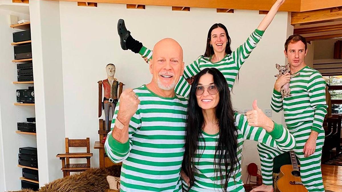 La extraña y sorpresiva foto de Demi Moore y Bruce Willis: pasan juntos la cuarentena por el coronavirus