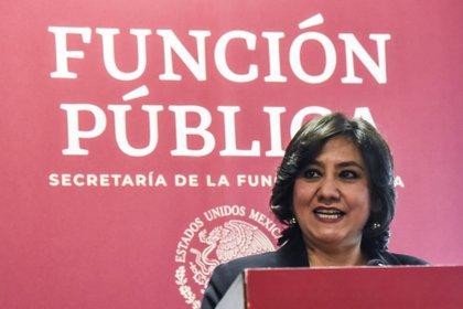 Irma Eréndira Sandoval Ballesteros, secretaria de la Función Pública (Foto: Mario Jasso/Cuartoscuro)