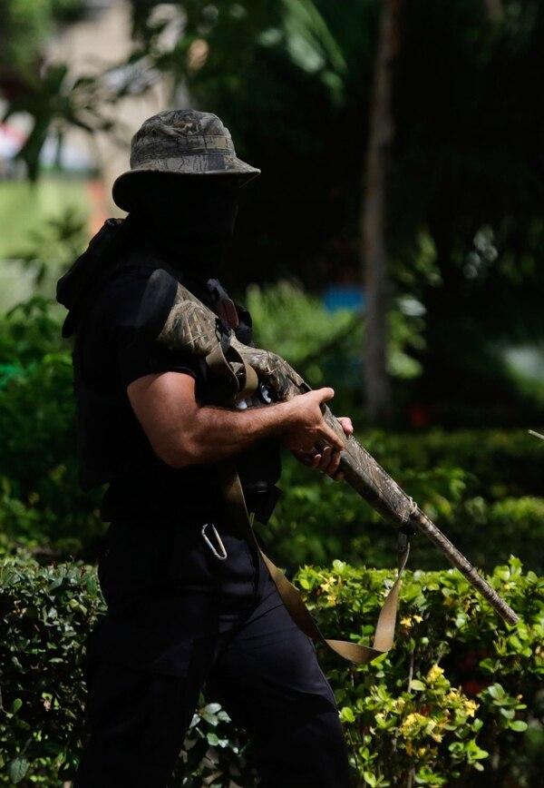 Los grupos paramilitares sandinistas atacan con armas de guerra(AFP PHOTO / Inti OCON)