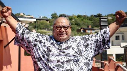Roly Serrano recibió a Teleshow en la casa que alquila en Villa Carlos Paz (Fotos: Mario Sar)